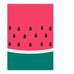 Watermelon Red Green White Black Fruit Small Garden Flag (two Sides) by Mariart