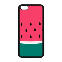 Watermelon Red Green White Black Fruit Apple Iphone 5c Seamless Case (black) by Mariart