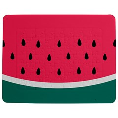 Watermelon Red Green White Black Fruit Jigsaw Puzzle Photo Stand (rectangular) by Mariart