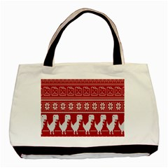 Red Dinosaur Star Wave Chevron Waves Line Fabric Animals Basic Tote Bag by Mariart