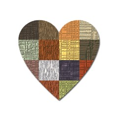 Blocky Filters Yellow Brown Purple Red Grey Color Rainbow Heart Magnet by Mariart