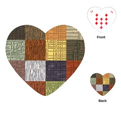 Blocky Filters Yellow Brown Purple Red Grey Color Rainbow Playing Cards (heart)  by Mariart