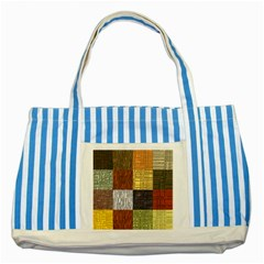 Blocky Filters Yellow Brown Purple Red Grey Color Rainbow Striped Blue Tote Bag by Mariart