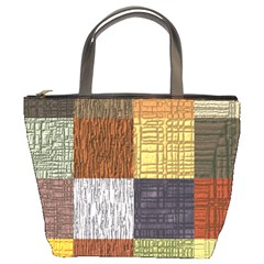 Blocky Filters Yellow Brown Purple Red Grey Color Rainbow Bucket Bags by Mariart
