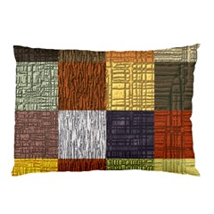 Blocky Filters Yellow Brown Purple Red Grey Color Rainbow Pillow Case by Mariart