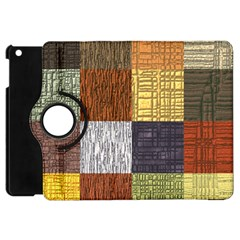 Blocky Filters Yellow Brown Purple Red Grey Color Rainbow Apple Ipad Mini Flip 360 Case by Mariart