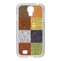 Blocky Filters Yellow Brown Purple Red Grey Color Rainbow Samsung Galaxy S4 I9500/ I9505 Case (white)
