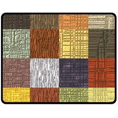 Blocky Filters Yellow Brown Purple Red Grey Color Rainbow Double Sided Fleece Blanket (medium)  by Mariart
