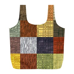 Blocky Filters Yellow Brown Purple Red Grey Color Rainbow Full Print Recycle Bags (l)  by Mariart