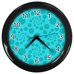 Pattern Wall Clocks (black) by Valentinaart