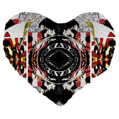 Son Of Anarchy Fading Effect Large 19  Premium Flano Heart Shape Cushions by 3Dbjvprojats