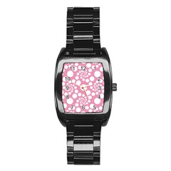Pattern Stainless Steel Barrel Watch by Valentinaart