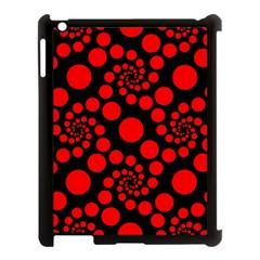 Pattern Apple Ipad 3/4 Case (black) by Valentinaart