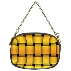 Rough Gold Weaving Pattern Chain Purses (one Side)  by Simbadda