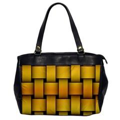 Rough Gold Weaving Pattern Office Handbags by Simbadda