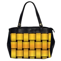 Rough Gold Weaving Pattern Office Handbags (2 Sides)  by Simbadda