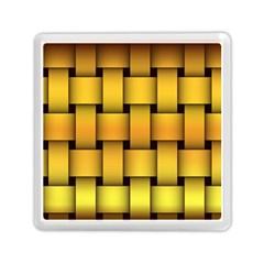 Rough Gold Weaving Pattern Memory Card Reader (square)  by Simbadda