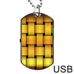 Rough Gold Weaving Pattern Dog Tag Usb Flash (one Side) by Simbadda