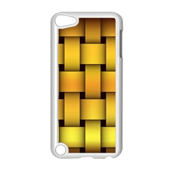 Rough Gold Weaving Pattern Apple Ipod Touch 5 Case (white) by Simbadda
