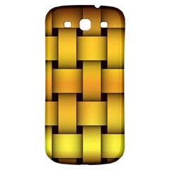 Rough Gold Weaving Pattern Samsung Galaxy S3 S Iii Classic Hardshell Back Case by Simbadda