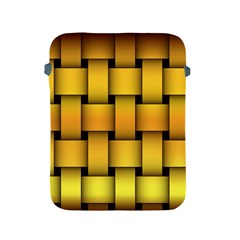 Rough Gold Weaving Pattern Apple Ipad 2/3/4 Protective Soft Cases by Simbadda