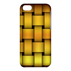 Rough Gold Weaving Pattern Apple Iphone 5c Hardshell Case by Simbadda