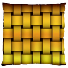 Rough Gold Weaving Pattern Large Flano Cushion Case (two Sides) by Simbadda