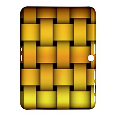 Rough Gold Weaving Pattern Samsung Galaxy Tab 4 (10 1 ) Hardshell Case