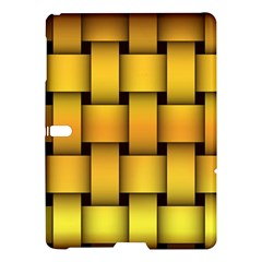 Rough Gold Weaving Pattern Samsung Galaxy Tab S (10 5 ) Hardshell Case  by Simbadda