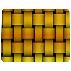 Rough Gold Weaving Pattern Jigsaw Puzzle Photo Stand (rectangular) by Simbadda