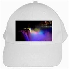 Niagara Falls Dancing Lights Colorful Lights Brighten Up The Night At Niagara Falls White Cap by Simbadda