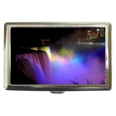Niagara Falls Dancing Lights Colorful Lights Brighten Up The Night At Niagara Falls Cigarette Money Cases by Simbadda