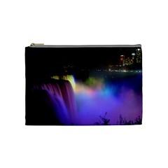 Niagara Falls Dancing Lights Colorful Lights Brighten Up The Night At Niagara Falls Cosmetic Bag (medium)  by Simbadda