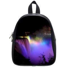 Niagara Falls Dancing Lights Colorful Lights Brighten Up The Night At Niagara Falls School Bags (small)  by Simbadda
