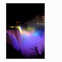 Niagara Falls Dancing Lights Colorful Lights Brighten Up The Night At Niagara Falls Small Garden Flag (two Sides) by Simbadda