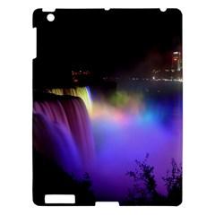 Niagara Falls Dancing Lights Colorful Lights Brighten Up The Night At Niagara Falls Apple Ipad 3/4 Hardshell Case by Simbadda