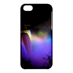 Niagara Falls Dancing Lights Colorful Lights Brighten Up The Night At Niagara Falls Apple Iphone 5c Hardshell Case by Simbadda