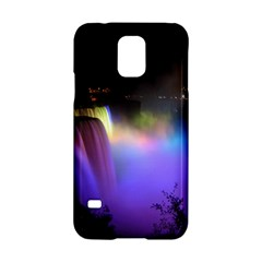 Niagara Falls Dancing Lights Colorful Lights Brighten Up The Night At Niagara Falls Samsung Galaxy S5 Hardshell Case  by Simbadda