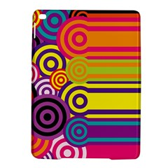 Retro Circles And Stripes Colorful 60s And 70s Style Circles And Stripes Background Ipad Air 2 Hardshell Cases by Simbadda