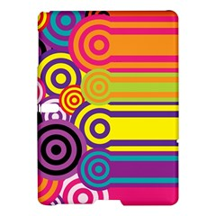 Retro Circles And Stripes Colorful 60s And 70s Style Circles And Stripes Background Samsung Galaxy Tab S (10 5 ) Hardshell Case  by Simbadda