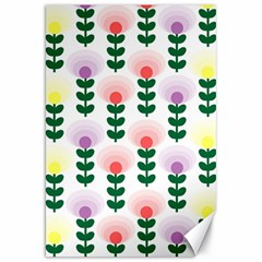 Floral Wallpaer Pattern Bright Bright Colorful Flowers Pattern Wallpaper Background Canvas 20  X 30   by Simbadda