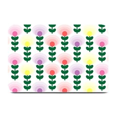 Floral Wallpaer Pattern Bright Bright Colorful Flowers Pattern Wallpaper Background Plate Mats by Simbadda