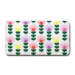 Floral Wallpaer Pattern Bright Bright Colorful Flowers Pattern Wallpaper Background Medium Bar Mats by Simbadda