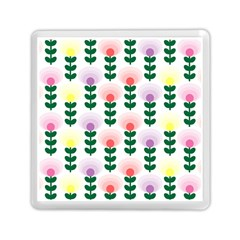 Floral Wallpaer Pattern Bright Bright Colorful Flowers Pattern Wallpaper Background Memory Card Reader (square)  by Simbadda