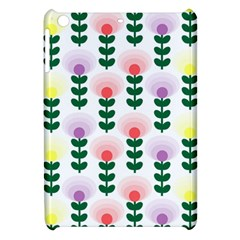 Floral Wallpaer Pattern Bright Bright Colorful Flowers Pattern Wallpaper Background Apple Ipad Mini Hardshell Case by Simbadda