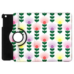 Floral Wallpaer Pattern Bright Bright Colorful Flowers Pattern Wallpaper Background Apple Ipad Mini Flip 360 Case by Simbadda