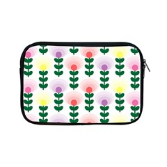 Floral Wallpaer Pattern Bright Bright Colorful Flowers Pattern Wallpaper Background Apple Ipad Mini Zipper Cases by Simbadda