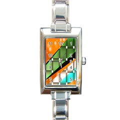 Abstract Wallpapers Rectangle Italian Charm Watch by Simbadda