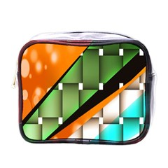 Abstract Wallpapers Mini Toiletries Bags by Simbadda