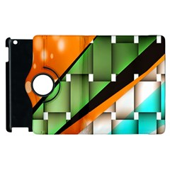 Abstract Wallpapers Apple Ipad 2 Flip 360 Case by Simbadda